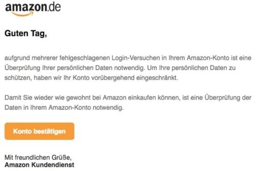 Beispiel Phishing-E-Mail