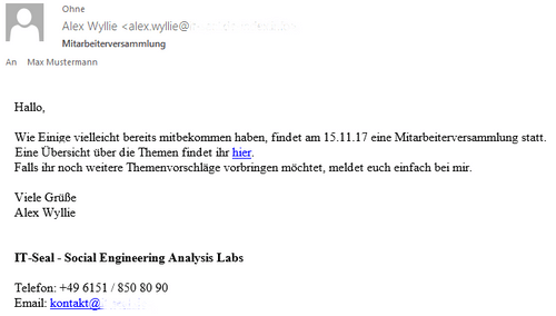 Beispiel Spear-Phishing-E-Mail