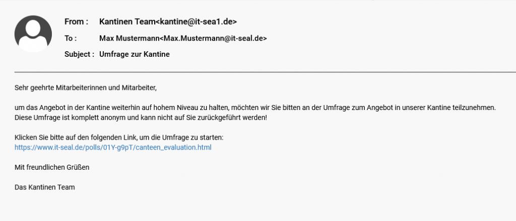 Phishing-Mail Beispiel