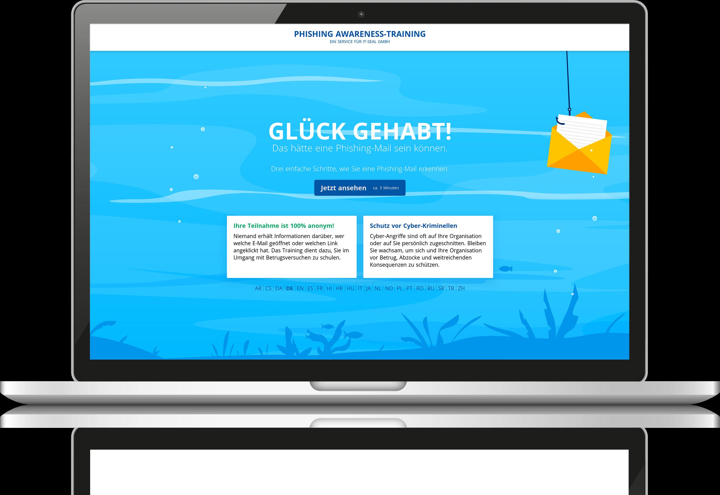 Most-Teachable-Moment nach Klick auf eine simulierte Phishing-Mail